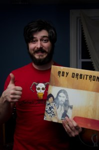 Conor M. posing with one of his records