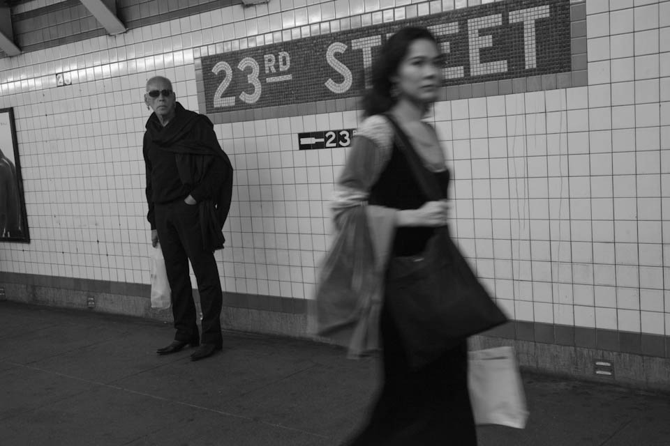 Beauty and the beast (waiting for the subway doors to close).
