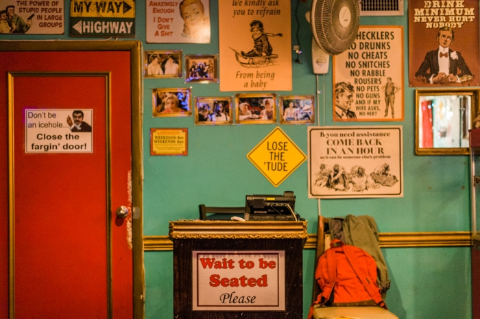 Door to EastVille Comedy Club closed for on an All Star performance night on October 29, 2015. ©Leda Costa
