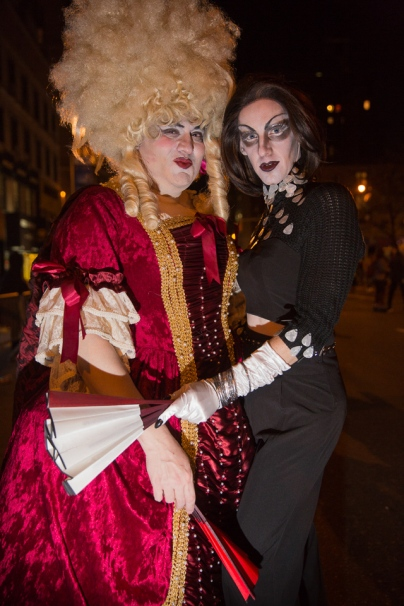 Jon Lombardini and Stephen Dunford at the Village Halloween Parade in NYC 2016, on Monday, Oct. 31, 2016. Photo by Louise Pedno