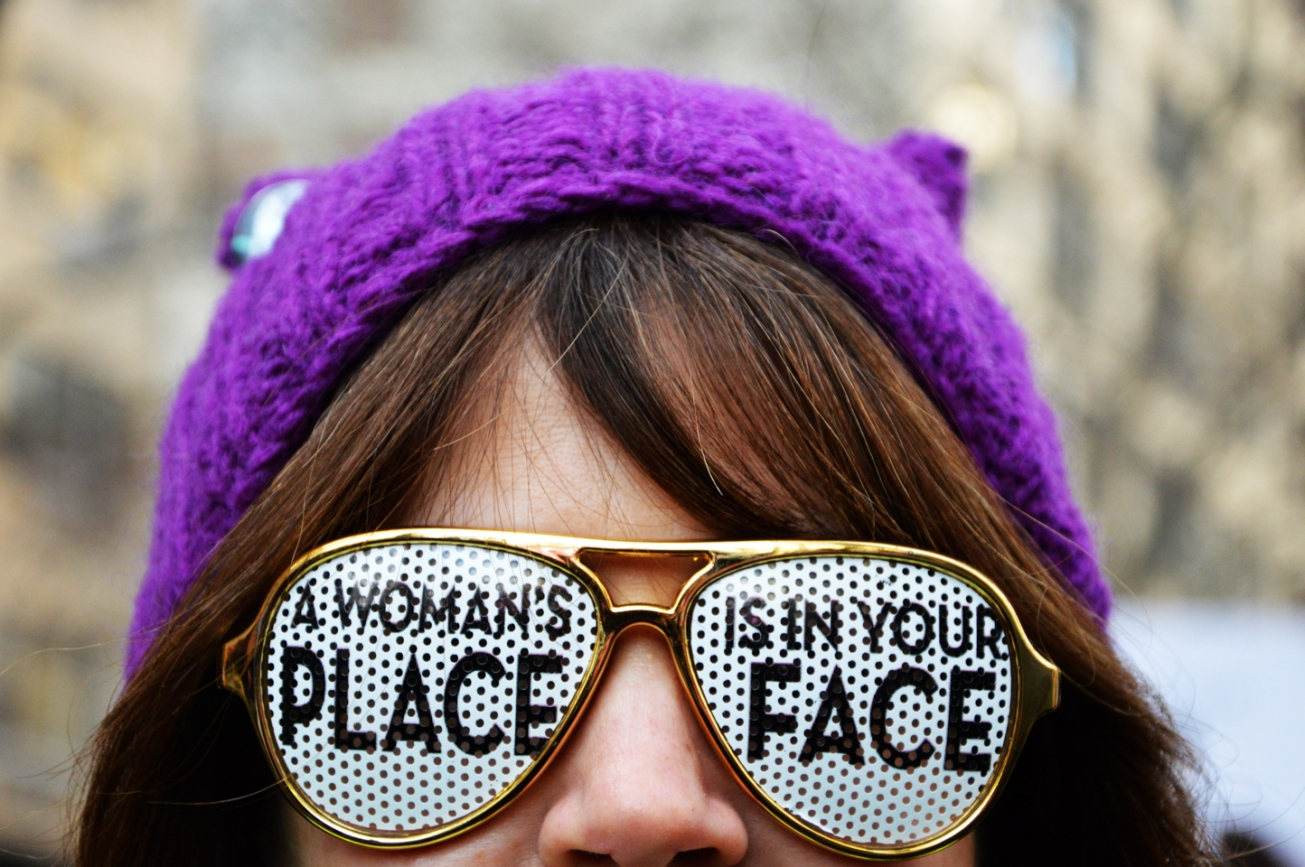 The Women's March on New York on January 21, 2017. Photo by Mandira Bahl